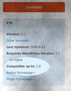 wordpress-plugin-version