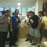Algumas pessoas da equipe de vídeos da Globo.com