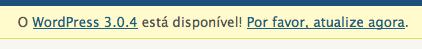 Pedido de atualização do wordpress para 3.0.4